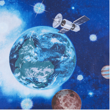 Маломеры поплин 150 см 1716 Космос 11 м