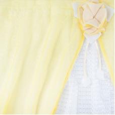 Шторы Розочка 300/175 см цвет желтый