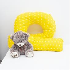 Наволочка бязь на подушку для беременных U-образная 1700/8 цвет желтый