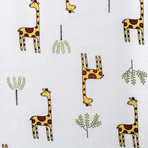 Ткань на отрез муслин 135 см 7362/1 Жирафы