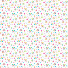 Ткань на отрез ситец 95 см 18794/1 Совушки цвет белый