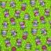 Ткань на отрез вафельное полотно набивное 150 см 1057/3 Веселая прогулка цвет зелёный