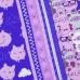 Ткань на отрез вафельное полотно набивное 150 см 1082/1 Поросята в облаках цвет сиреневый