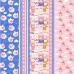 Ткань на отрез вафельное полотно набивное 150 см 1082/3 Поросята в облаках цвет розовый