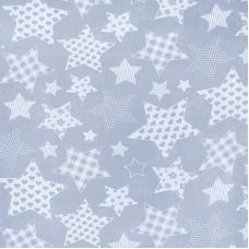 Ткань на отрез бязь плательная 150 см 1683/17 цвет серый