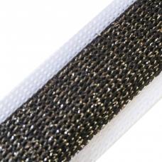 Лампасы №102 белый черный люрекс серебро  2см 1 метр