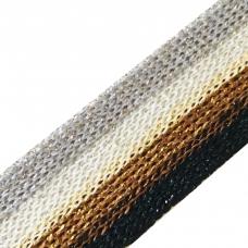 Лампасы №101 серый белый коричневый черный люрекс золото серебро 2см 1 метр