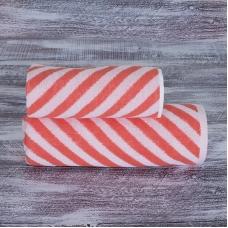 Полотенце махровое МХ-42 Круиз диагональ 50/90 см цвет коралловый