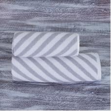 Полотенце махровое МХ-42 Круиз диагональ 70/140 см цвет серебро