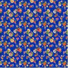 Бязь 120 гр/м2 150 см 10619/1     Цветник синий