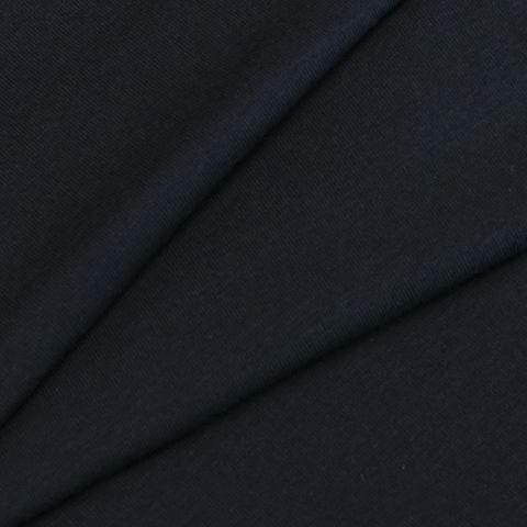 Мерный лоскут кулирка гладкокрашеная лайкра пенье 9072 Pirate Black 30/180 см