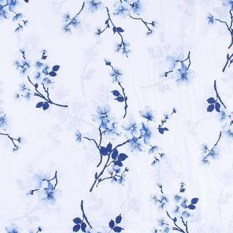 Маломеры бязь о/м 120 гр/м2 150 см 382/1а Сакура цвет синий 1м