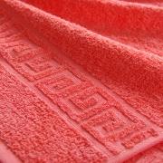 Полотенце махровое Туркменистан 50/90 см цвет коралловый SCARLET