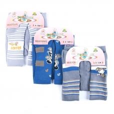 Детские колготки 628 HONGAN для мальчиков 0-6 месяцев
