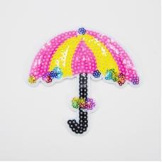 Аппликация Зонтик розовый 10*11см