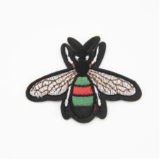 Аппликация Пчелка белые крылышки термо 7*5,5см