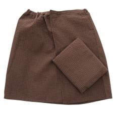 Набор для сауны вафельный Премиум мужской 2 предмета (килт шир.резинкой+полотенце) цвет 896
