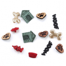 Набор пуговиц JESSE JAMES 1752 ASSORTED ITEMS-DOG STUFF 1 упак