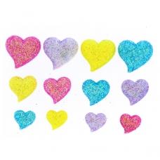 Набор пуговиц JESSE JAMES 8374 Блестящие сердечки 1 упак