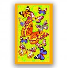 Полотенце вафельное пляжное 441/4 Бабочки цвет желтый 150/75 см