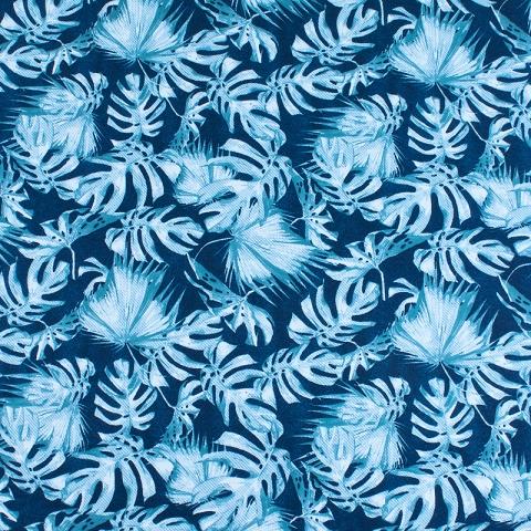 Ткань на отрез интерлок пенье Монстера мятная R-R6058-V1