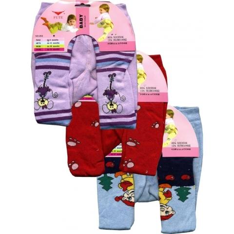 Детские махровые колготки Fute Baby 202 6-12 месяцев