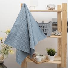 Полотенце вафельное банное Премиум 140/70 см цвет серый