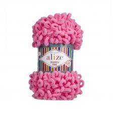 Пряжа ALIZE PUFFY FINE 121 - леденец (100% микрополиэстер)