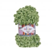 Пряжа ALIZE PUFFY FINE 485 - зеленый (100% микрополиэстер)