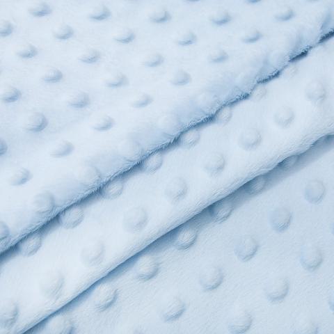 Плюш Минки Китай 180 см на отрез цвет голубой