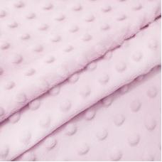 Плюш Минки Китай 180 см на отрез цвет розовый