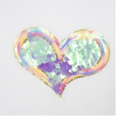 Аппликация Сердце 19,5*15см