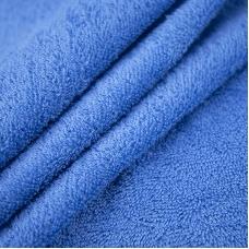 Ткань на отрез махровое полотно 150 см 350 гр/м2 цвет василек