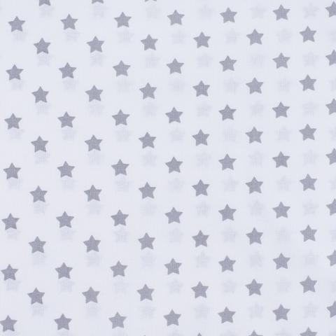 Ткань на отрез поплин 150 см 390А/17 Звездочки цвет серый