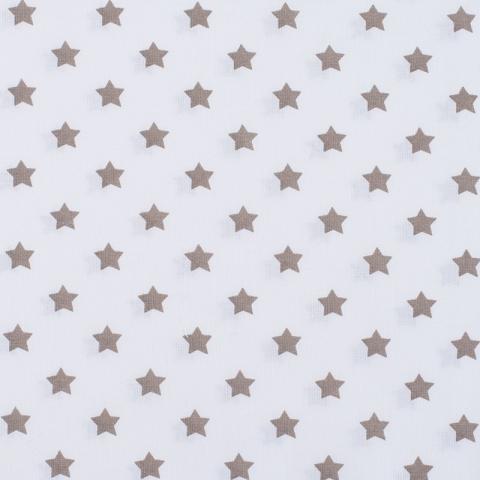 Ткань на отрез поплин 150 см 390А/18 Звездочки цвет кофе