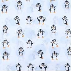 Отрез 150х150 Бязь плательная 150 см 447 Веселый пингвин