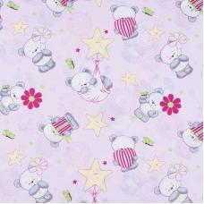Ткань на отрез поплин 150 см 1835/3 цвет розовый