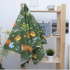 Полотенце вафельное банное 150/75 см 376/6 Баня цвет зеленый