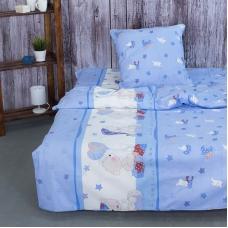 Детское постельное белье из поплина 1.5 сп 1636/2 Мой ангелочек голубой
