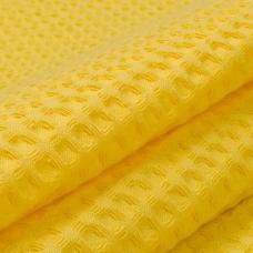 Вафельное полотно гладкокрашенное 150 см 240 гр/м2 7х7 мм премиум цвет 257 желтый