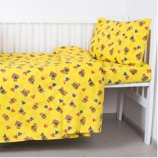 Постельное белье в детскую кроватку 609/4-1 желтый ГОСТ