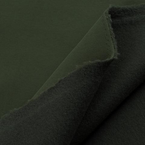 Ткань на отрез футер 3-х нитка компакт пенье начес цвет темный хаки
