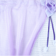 Шторы Розочка 300/175 см цвет фиолетовый
