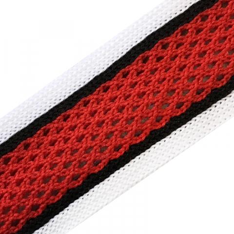 Лампасы №37 белые черные красные полосы с перфорацией 2,5см уп 10 м
