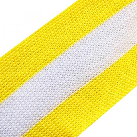 Лампасы №41 желтая белая желтая полосы 4см уп 10 м