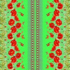 Вафельное полотно набивное 150 см 438-2 Маков цвет