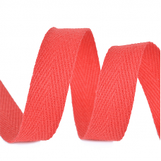 Лента киперная 10 мм хлопок 2.5 гр/см цвет F162 красный