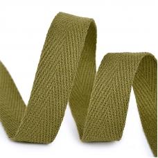 Лента киперная 10 мм хлопок 2.5 гр/см цвет F264 зеленый