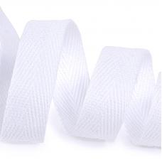 Лента киперная 15 мм хлопок 2.5 гр/см цвет F101 белый