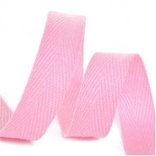 Лента киперная 15 мм хлопок 2.5 гр/см цвет F134 розовый